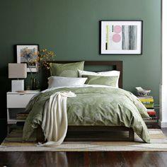 Le vert, tendance déco du moment   Vert chambre, Vert et Chambres