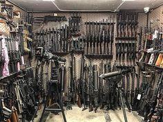 Survival Weapons, Weapons Guns, Guns And Ammo, Hidden Gun Storage, Weapon Storage, Gun Safe Room, Zombie Apocalypse Weapons, Gun Vault, Gun Rooms