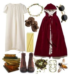 """""""Little Red"""" by peachy-queen ❤ liked on Polyvore featuring Bundle MacLaren Millinery, Vanessa Bruno Athé, Crate and Barrel and Pamela Love"""