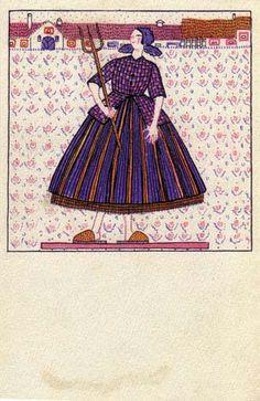 825. Fritzi Löw - Wiener Werkstatte postcard