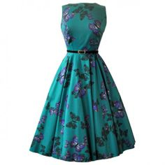 Love this one! Lady V Hepburn Teal Green Butterfly