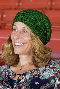 This is a very pretty slouchy hat.