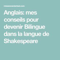 Anglais: mes conseils pour devenir Bilingue dans la langue de Shakespeare