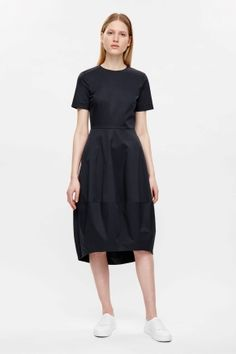 Navy short sleeved dress by COS