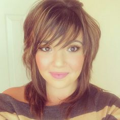 My hair cut. Really thinned out and short layers up top. And bangs #bangs#layers