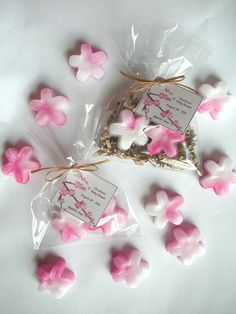 20 Cherry Blossom Soap Favors. $35.00, via Etsy.
