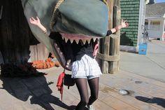 LA- Universal Studios - Jaws Elo by on DeviantArt The Simpsons, Universal Studios, Monsters, Ballet Skirt, Deviantart, Fashion, Moda, Fashion Styles, Fasion