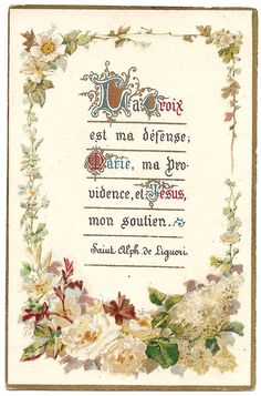 The Cross Is My Defense Antique French by 12StarsVintage on Etsy