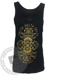 Delta Delta Delta Bid Day Tank by Adam Block Design | Custom Greek Apparel & Sorority Clothes | www.adamblockdesign.com