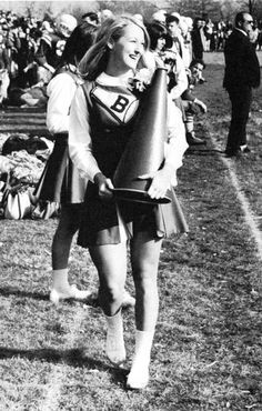 Meryl Streep  - Vogue's yearbook cheerleaders #Cheerleader #cheer #cheerleading