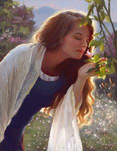 Scent of a Rose by Sheri Dinardi Oil ~ 14 x 11