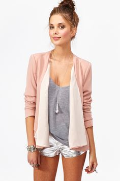 Draped Chiffon Jacket