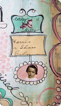 a bit of a page... Jenny Holiday #art #journal #journaling #artjournal #paint