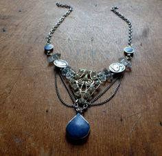 Blue Swan. Vintage assemblage necklace. by BroadStreet on Etsy