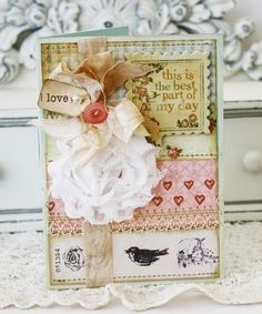 from LilyBean's Paperie blog. Beautiful vintage, shabby creative things!