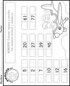 Números: #colorea #repasa #escribe #números #matemáticas