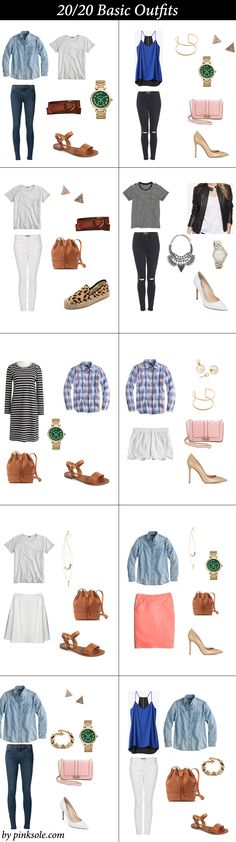 20 basics clothing for spring 20 outfits |