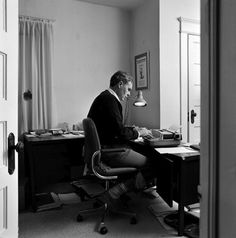 Raymond Carver  Those were the days. I actually still have a typewriter but I don't use it as much.  Maybe I should. No Facebook on a typewriter!  :D