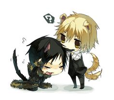 Kitty Izaya and puppy Shizuo