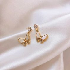 2020 Dominated fashion Korean New Earrings fine crystal butterfly mode – Touchy Style