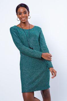 54ce3741f3f5 Αρχική Σελίδα :: ΕΝΔΥΜΑΤΑ :: ΦΟΥΣΤΕΣ & ΦΟΡΕΜΑΤΑ :: Φορέματα :: LUREX DRESS  WITH POCKETS DARKGREEN