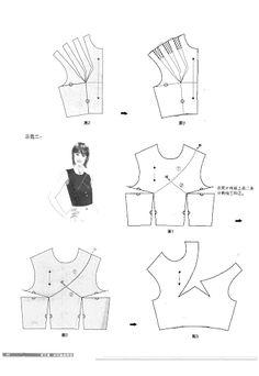 Chinese method of pattern making- Darts on a bodice - SSvetLanaV - Веб-альбомы Picasa