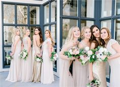 Bride With Bridesmaids At Summit House Southern California Wedding Elopement Photographer