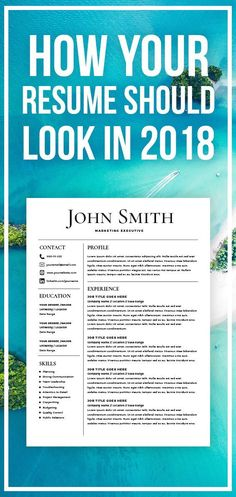 The 3155 best cv resume design images on pinterest in 2018 cv resume template cv template with cover letter ms word on mac pc design professional best resume templates instant download maxwellsz