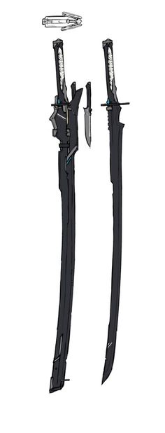 Use for the Base design on the Katana and add on the other designs Ninja Weapons, Anime Weapons, Sci Fi Weapons, Weapon Concept Art, Weapons Guns, Fantasy Sword, Fantasy Weapons, Dark Fantasy, Fantasy Katana