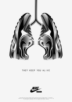 Pretty Nice AD!  They Keep You Alive : Nike Air Max poster by London-based graphic designer Anton Burmistrov