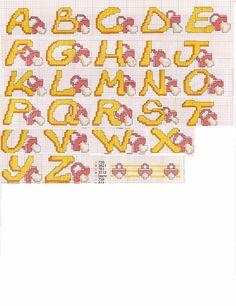 Schema punto croce per bambini willy da un bacino ad ape for Alfabeti a punto croce per bambini