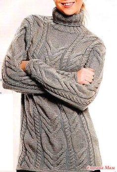 Узорчатый свитер спицами. - ВЯЗАНАЯ МОДА+ ДЛЯ НЕМОДЕЛЬНЫХ ДАМ - Страна Мам