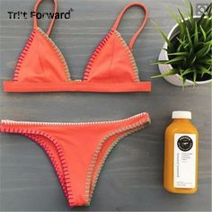 $23.00 (Buy here: https://alitems.com/g/1e8d114494ebda23ff8b16525dc3e8/?i=5&ulp=https%3A%2F%2Fwww.aliexpress.com%2Fitem%2FWestern-Orange-Solid-Color-Strapless-Fashion-Bikini-Sets-Push-Up-Topless-Sexy-Thong-Swimwear-Special-Design%2F32667336918.html ) Super Sexy Handmade Crochet Bikinis Western Orange Solid Color Swimwear Neoprene Woman Topless Bandeau Bikini Halter Beach Wear for just $23.00