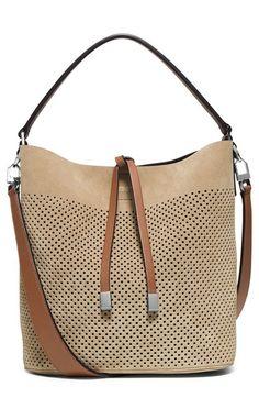 Michael Kors 'Medium Miranda' Perforated Suede Bucket Bag available at #Nordstrom