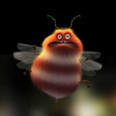 L'estiu és l'estació per excel·lència dels bitxos i bitxes, però segur que no n'heu vist cap com aquest que il·lustra Max Kostenko. Simpàtiquíssims!   Pinzellades al món: Bitxos i bitxets en estiu / Bichos y bichitos en verano / Bugs and little bugs in summer