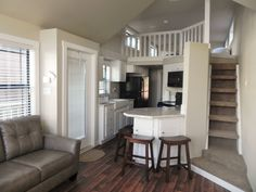 Inside our Lake Fork waterfront cabin at Pope's Landing Marina!
