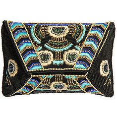 Fuera de embrague del bolso del diseñador de Blue Mary Frances