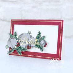 Stampin Up Christmas, Christmas Bells, All Things Christmas, Christmas And New Year, Winter Christmas, Christmas Cards, Love Stamps, Christmas Catalogs, Card Making Inspiration