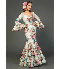 trajes de flamenca 2018 mujer - Aires de Feria - Traje de flamenca Andujar Estampado