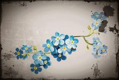 Forget-me-not Flowers Art Wallpaper