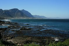 This is the view from downtown Hermanus, South Africa. Beautiful Places In The World, Oh The Places You'll Go, Places Ive Been, South Afrika, Glorious Days, Nature View, World Pictures, Holiday Activities, African Beauty