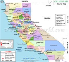 Map of Major Cities of California | MAPS | California city ...