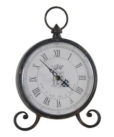 Take a look at this Scroll Tabletop Clock today!