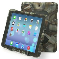 Ipad Air 2 Case , Aceguarder Apple Ipad Air 2 Case Dorp Proof Rain Proof Shock Proof Kids Cover Case with Stand for Ipad 6 (Gifts Outdoor Carabiner   Whistle   Handwritten Touch Pen)(Camo/Black) -- Check this awesome product by going to the link at the image.