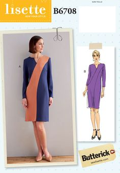 Lisette For Butterick B6708 Sewing Pattern | Shop | Oliver + S