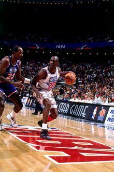 Michael Jordan Clyde Drexler NBA All-Star Game.   1867f9e3c