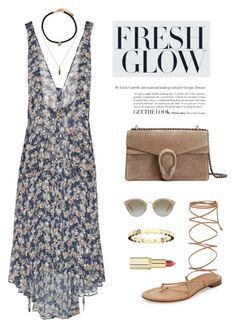 """""""""""We are not trapped or locked up in these bones. No, no. We are free to change. And love changes us. And if we can love one another, we can break open the sky."""" -Walter Mosley, Blue Light"""" by are-you-with-me ❤ liked on Polyvore featuring Roberto Cavalli, Forever 21, Gucci, Michael Kors, Miu Miu, Chaumet and L'Oréal Paris"""