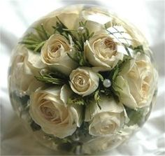 Compressed Mini Bouquet Paperweight