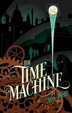 My cover for Rock Paper Books edition of The Time Machine. This along with other classic books will be available through their Kickstarter campaign which begins April 4, 2014. There are five classi...