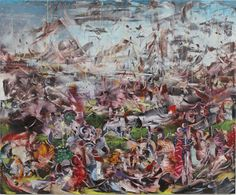 Ali Banisadr. Title: Ali Banisadr Burn It Down (2012), Oil on Linen, 30x36 inches
